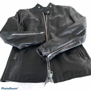 Vintage real leather ladies motorcycle jacket
